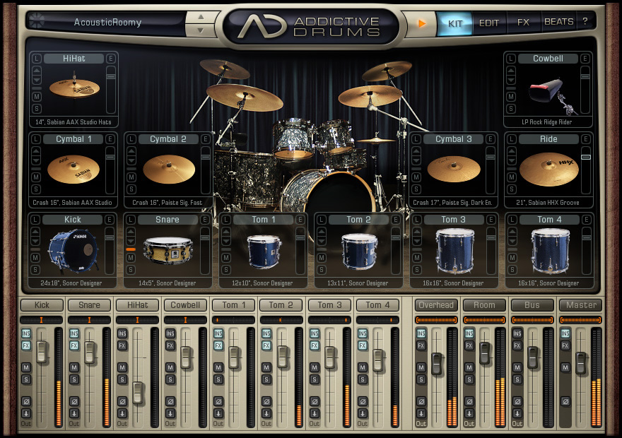 Скачать программу addictive drums бесплатно