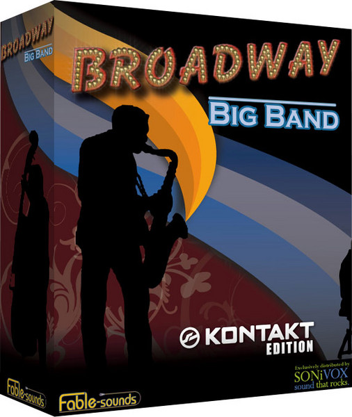 fable sounds broadway big band kontakt 23 dvd. Black Bedroom Furniture Sets. Home Design Ideas